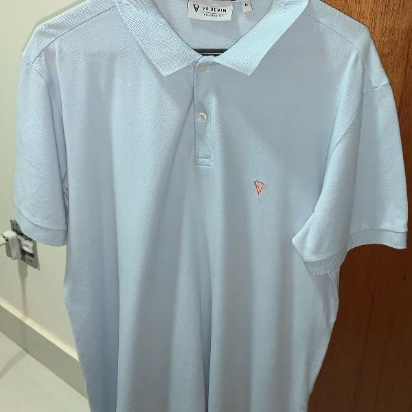 Camiseta polo - marca vr - azul claro - tamanho m