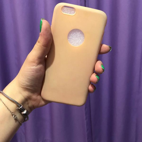 Case para iphone 6/6s silicone rosê