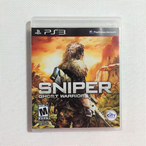 Jogo play 3 'sniper ghost warrior'
