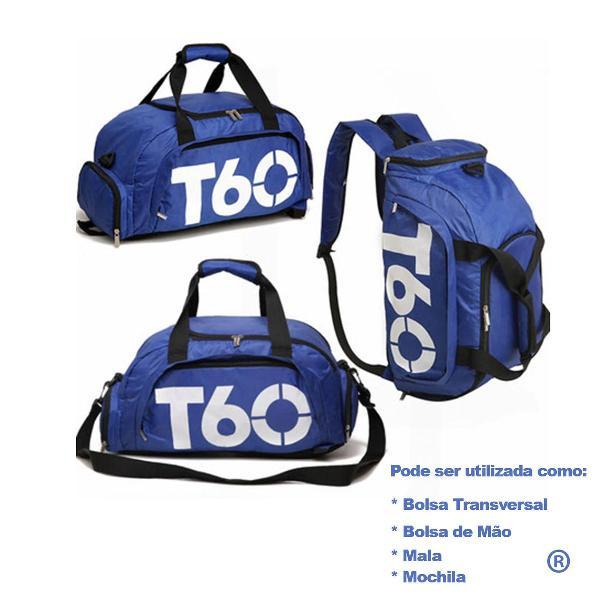 Mochila mala bolsa de mão impermeável t60 academia viagem