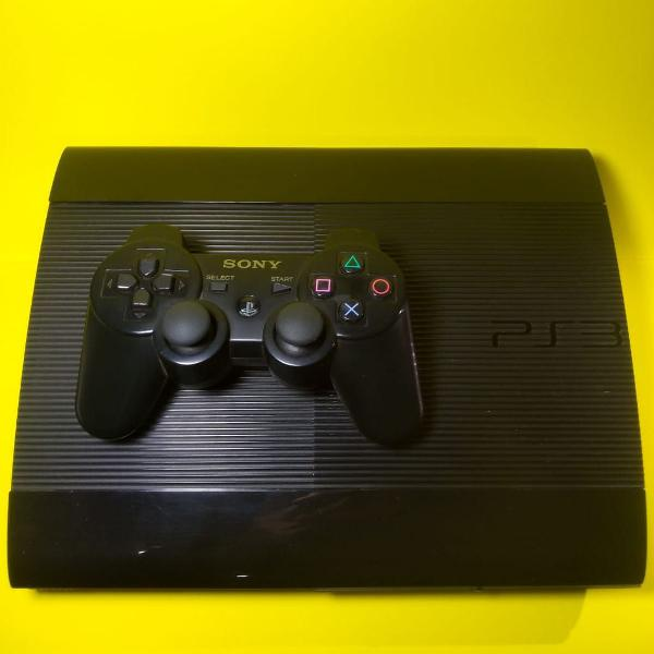 Playstation 3 play 3 ps3 super slim 250gb + 12 jogos