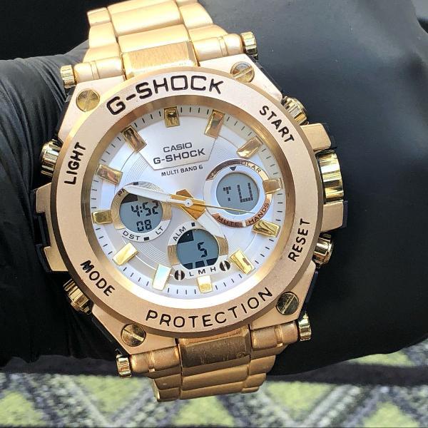 Relógio casio g shock gold metal