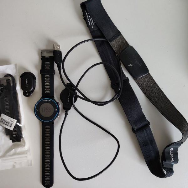 Relógio com gps e monitor cardíaco forerunner 620 - garmin