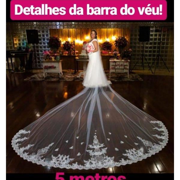 Véu de noiva 5 metros.