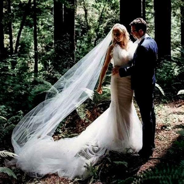 Véu mantilha noiva 5 metros casamento catedral branco com