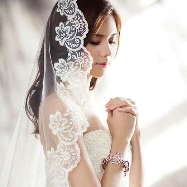 Véu mantilha noiva festa casamento 5 metros branco catedral