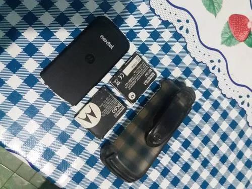 2 baterias e tampa de radio nextel i296