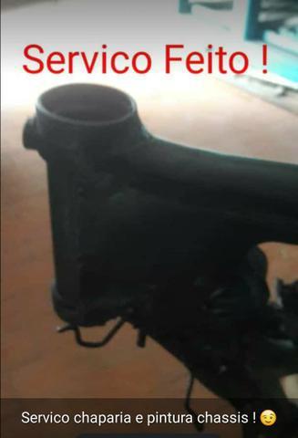 Alinhamento a laser de chassi de moto nacional e importado