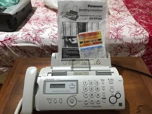 Aparelho de fax + copiadora panasonic kx-fp205 novissimo