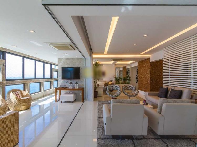 Barra, apartamento de 4 quartos, alto luxo c/290 m2, frontal