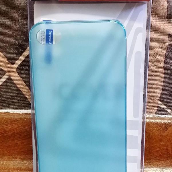 Case para iphone 4/4s azul fosco