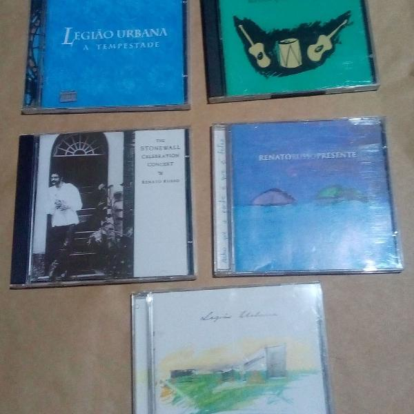 Combo de 5 cds do legião urbana + brinde surpresa