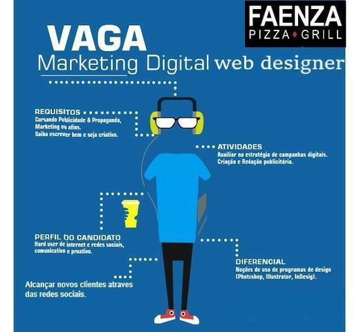 Estagiario marketing digital, web designer