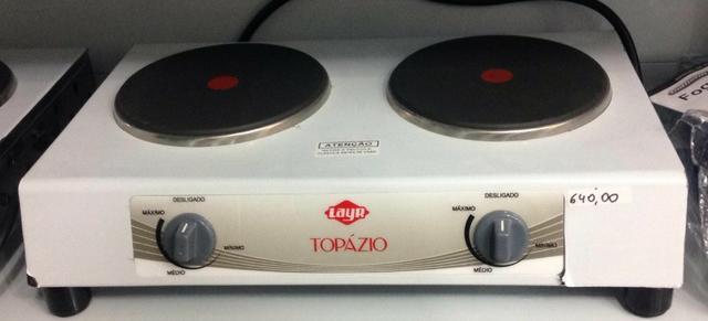 Fogão elétrico de bancada 2 bocas layr topazio 220v