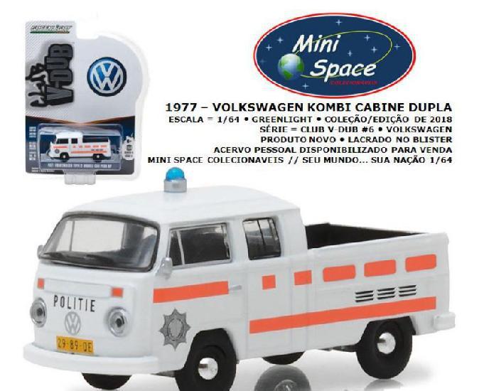 Greenlight 1977 volkswagen kombi pickup depto. polícia 164