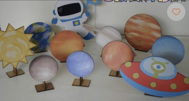 Kit astronauta com planetas - r$ 150,00