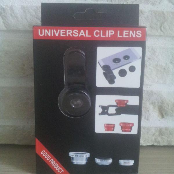 Kit de lentes com clip para celular