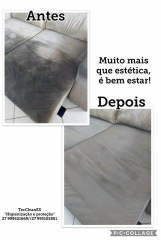 Limpeza de sofá e impermeabilização
