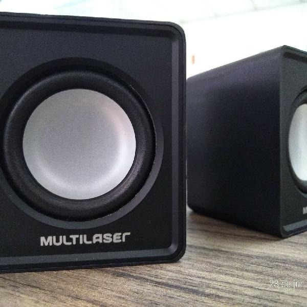Mini caixa caixinha som speaker alto falante 2.0 usb