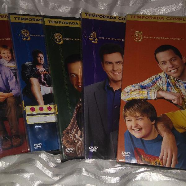 """Para colecionador! as 5 primeiras temporadas de """"two and a"""