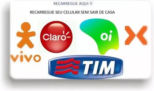 Recarga de celular oi - tim - vivo - claro - nextel 50 reais