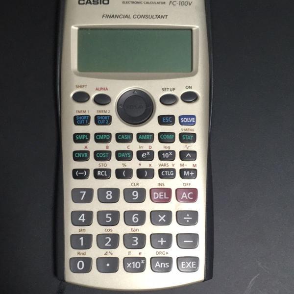 Calculadora financeira cassio fc-100v