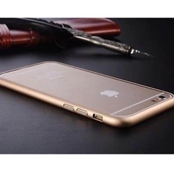 "Capinha bumper alumínio gold p/ iphone 6/6s 4.7"""