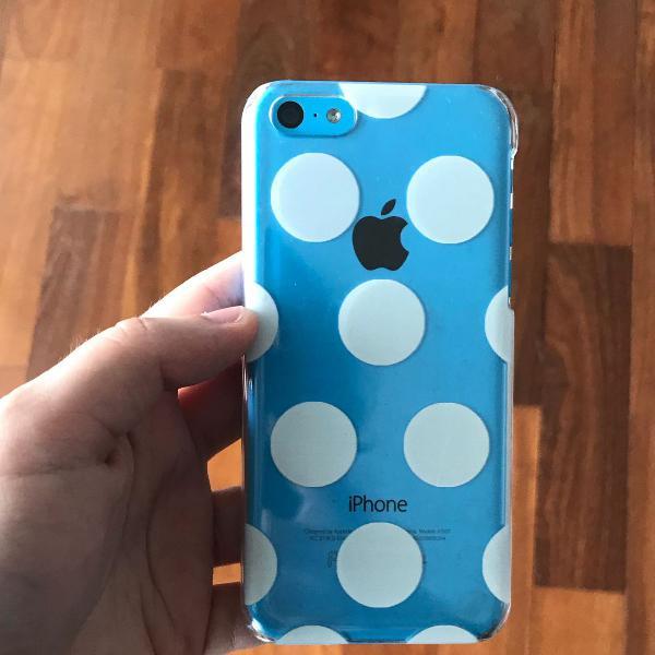 Capinha de bolinhas iphone 5c