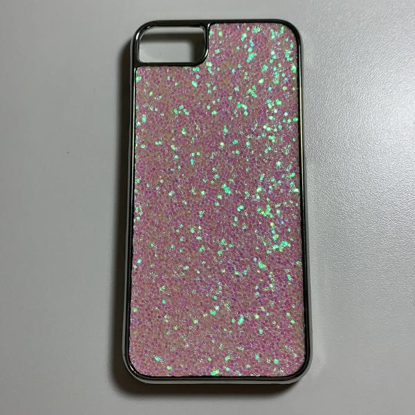 Capinha iphone 7 brilhante rosa plástico