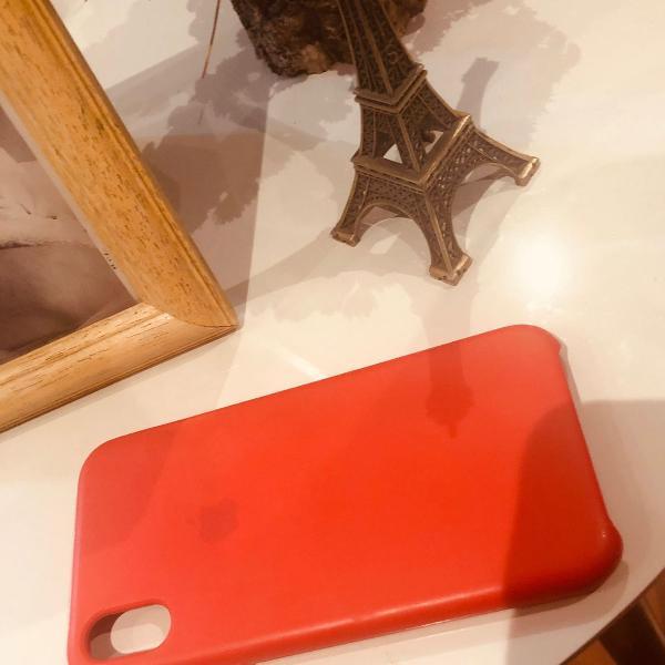Capinha para iphone x apple vermelha - vendido