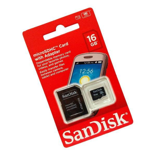 cartão de memoria micro sd sdhc16 gb sandisk