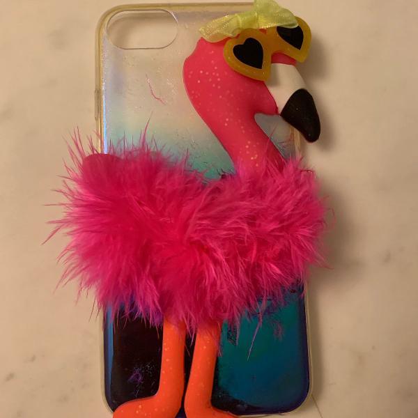 Case iphone 7/8 (capinha) flamingo