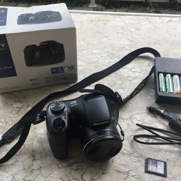 Câmera digital sony semiprofissional cyber-shot dsc h100