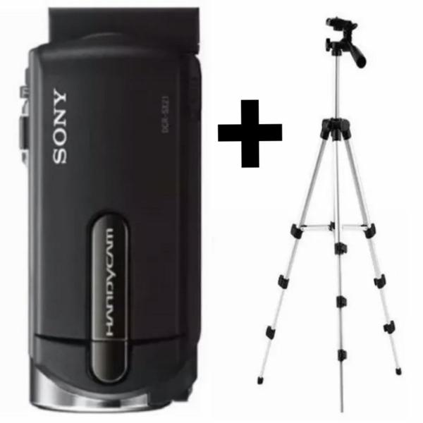 Câmera filmadora handycam sony + tripé alumínio