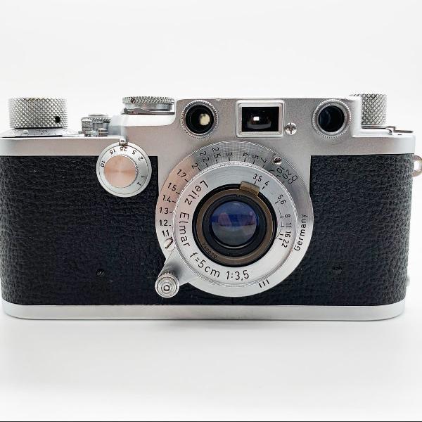 Câmera leica iiif com lente leitz elmar f/3.5 de 1953
