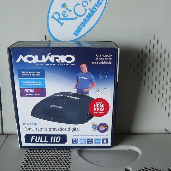 Conversor e gravador digital de tv dtv-5000 aquario cx 1 un