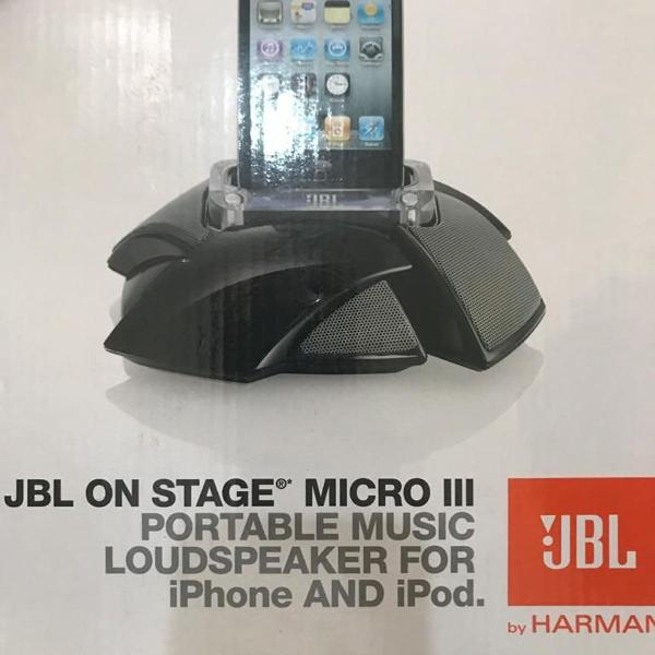 Dock station jbl on stage micro 3 novo - som espetacular!