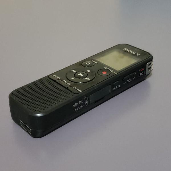 Gravador de voz profissional sony px470 mp3 expansível e