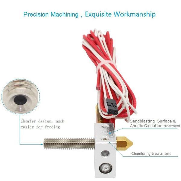 Hot end prusa i3 impressora 3d 1.75mm 0.4mm mk8