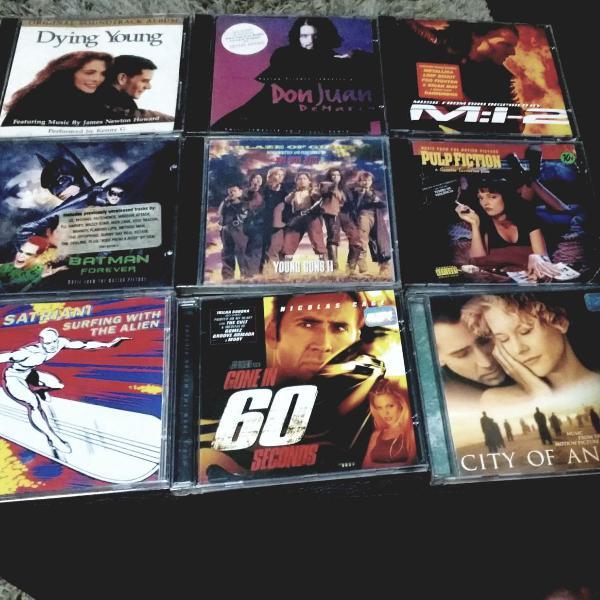 Kit cds trilha sonora cinema/filme