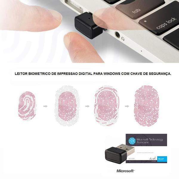 Leitor biometrico usb fingerprint para windows 7, 8 e 10