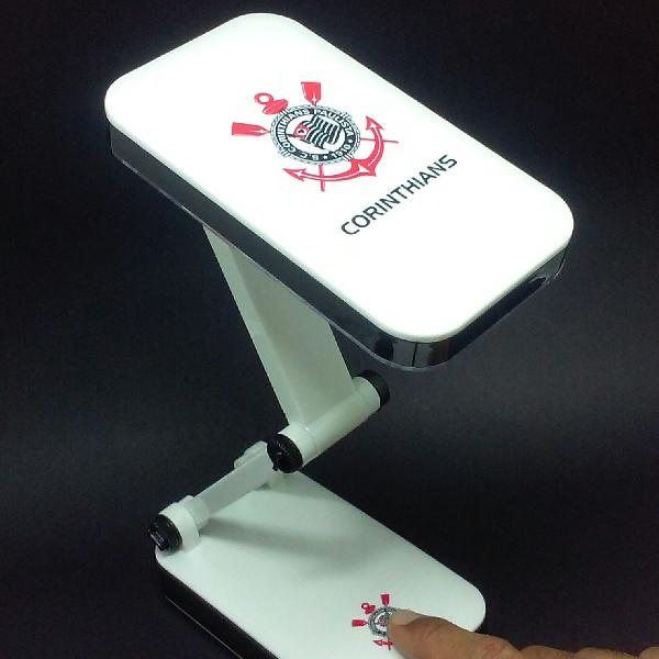 Luminária de mesa led do corinthians