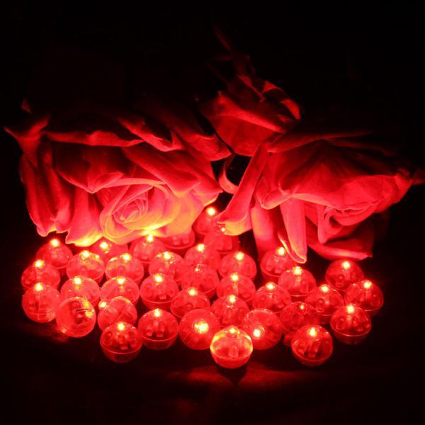 Micro led bexiga luz festa balão decoração cor ambar c/10