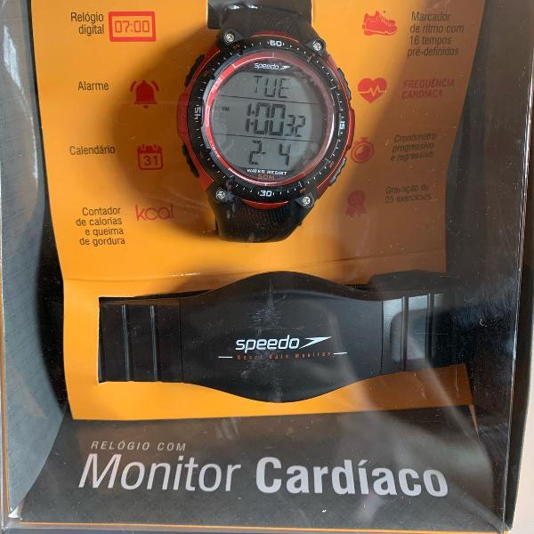 Relógio monitor cardíaco speedo