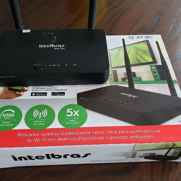Roteador wireless intelbras win 300