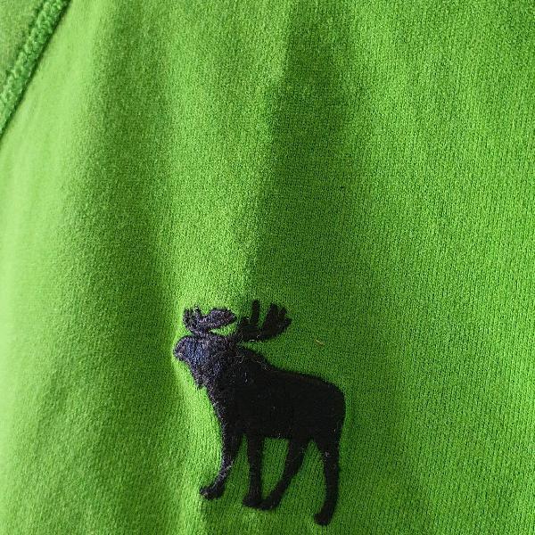 Abercrombie & fitch - camiseta masculina verde, tam. xl,