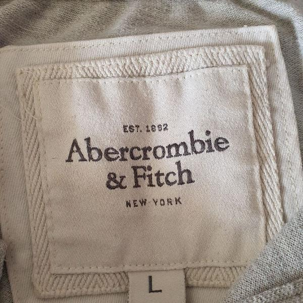 Abercrombie & fitch - polo cinza, masculino, tamanho l,