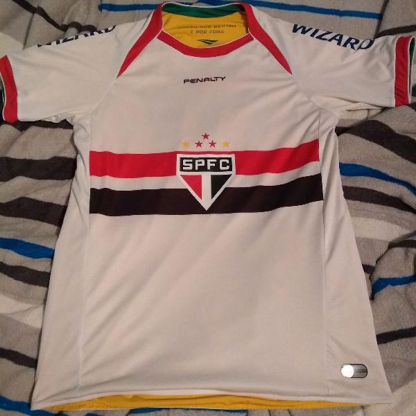 Camisa spfc penalty dupla face especial copa do mundo 2014