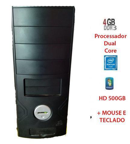 Cpu dual core / 4gb ddr3 / hd 500 gb e monitor, completo