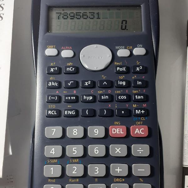 Calculadora científica casio fx-82ms com todos acessorios